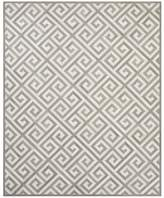 Williams-Sonoma Williams Sonoma Greek Key Pieced Hide Rug, Dove/Ivory