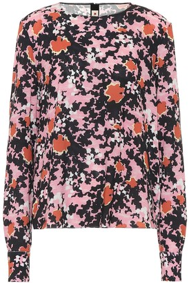 Marni Floral sable blouse