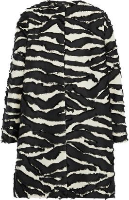 Oscar de la Renta Fil Coupe Zebra-jacquard Coat