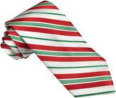 Asstd National Brand Hallmark Candy Cane Lurex Striped Tie
