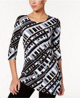 Alfani Asymmetrical Hardware Top, Only at Macy's