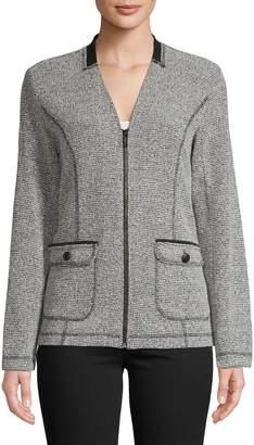 Karl Lagerfeld Paris Knit Tweed Jacket