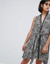AllSaints Jayda Zebra Dress In Silk