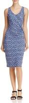 Nic+Zoe Triangle Print Twist Front Dress