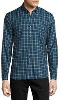 Burberry Scotson Tartan Cotton Twill Shirt, Bright Navy