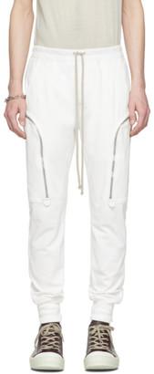 Rick Owens White Jog Cargo Pants