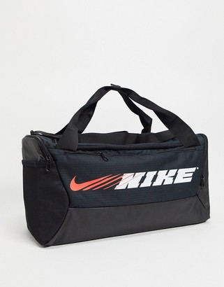 Nike Training logo duffel bag in black