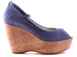 Hogan Women's Blue Suede Wedges