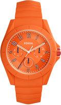 Fossil Men's Poptastic Orange Silicone Strap Watch 44mm FS5217