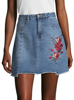 MinkPink True Beauty Denim A Line Skirt