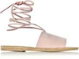 Ancient Greek Sandals Christina Pink Nubuck Sandal