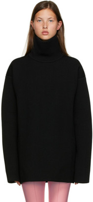 Balenciaga Black Rib Knit Turtleneck