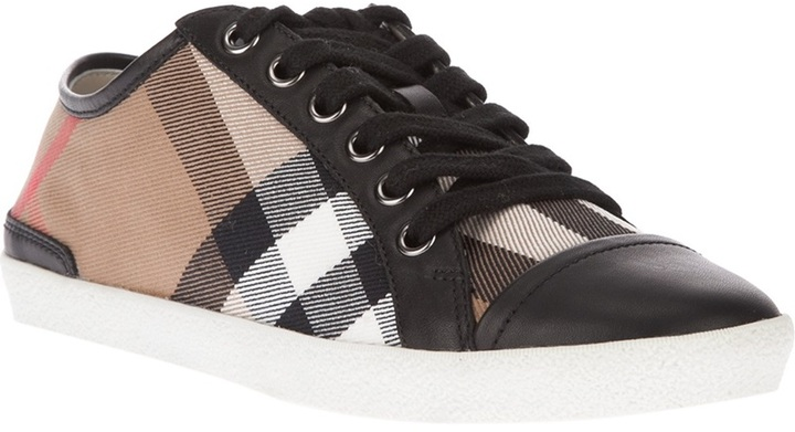 Burberry check trainer