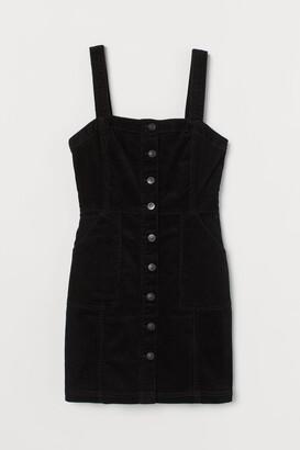 H&M Zip-front dungaree dress
