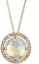 Suzanne Kalan 14K Yellow Gold Opal & White Sapphire Pendant Necklace
