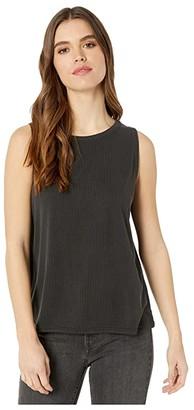 Fresh Produce Jetsetter Tank Top in Stretchy Modal Rib (Black) Women's Clothing