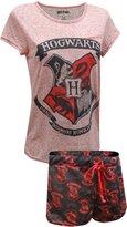 Briefly Stated Harry Potter's Hogwart's Crest Short PJ Set for women