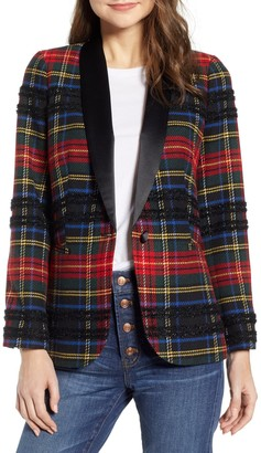 J.Crew Parke Plaid Shawl Collar Blazer