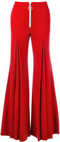 Off-White flared trousers - women - Spandex/Elastane/Virgin Wool/polyester - M