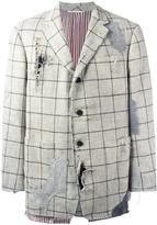 Thom Browne destroyed effect blazer