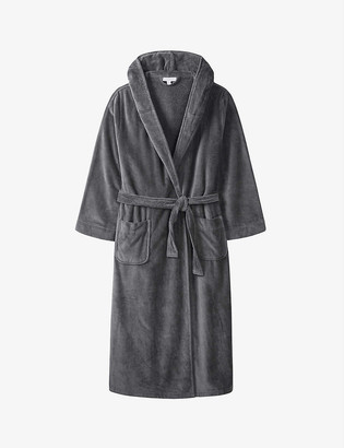 The White Company Hooded velour dressing gown