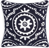 Sky Indigo Patchwork Crewel Decorative Pillow, 18 x 18 - 100% Exclusive