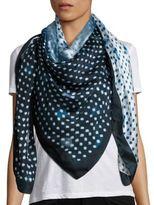 Armani Collezioni Dip Dye Soft Dot Silk Scarf