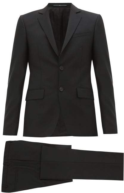 Givenchy Single-breasted Wool-blend Suit - Mens - Black