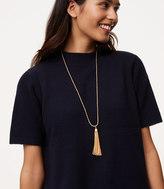 LOFT Twist Chain Tassel Necklace