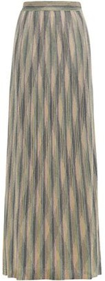 M Missoni Metallic Crochet-knit Maxi Skirt