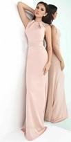 Mac Duggal Pleated Waist Embellished Column Dress