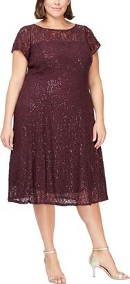 Slny Embellished Short Sleeve Midi Dress