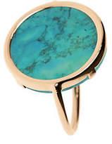 Ginette Ny 18K Rose Gold Fallen Sky Turquoise Disc Ring