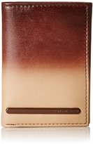 Geoffrey Beene Men's Trifold Wallet with Elongated Matte Logo Plaque