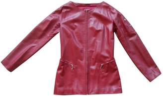 N. Claude Montana \N Red Leather Leather jackets