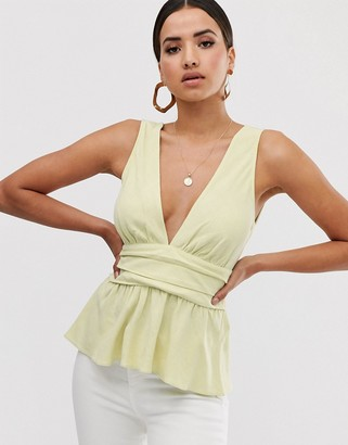 Asos DESIGN plunge sun top