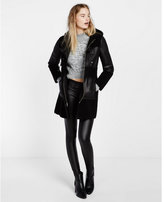 Express black shearling toggle coat