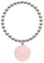 Ora Pearls Silver Orb Ring Powder Pink Jade