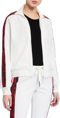 Pam & Gela Ocelot-Stripe Track Jacket