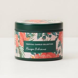 Indigo Scents Tropical Scented Large Tin Candle Mango Hibiscus