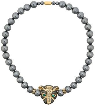 Susan Caplan Vintage 1980s Vintage Kenneth Jay Lane Panther Necklace