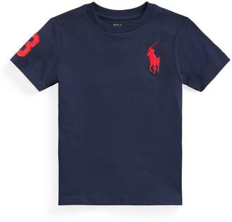 Ralph Lauren Kids Boy's Cotton Embroidered Short-Sleeve Shirt, Size 2-4