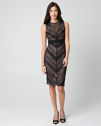 Le Château Crochet & Mesh Illusion Cocktail Dress