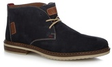 Rieker Navy Suede Lace Up Desert Boots