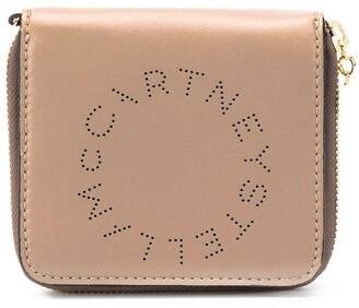 Stella McCartney mini logo zip-around wallet