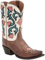 Lucchese Mid Shaft Cowboy Leather Boot