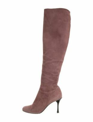 Mauve Suede Boots | Shop the world's