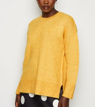 New Look Exposed Seam Crew Neck Jumper