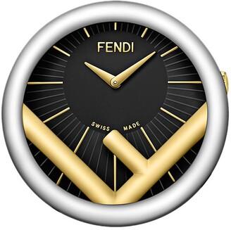 Fendi two-tone Run Away table clock