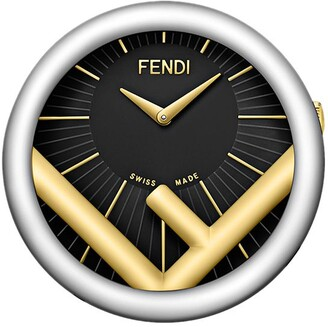 Fendi two-tone Run Away table clock